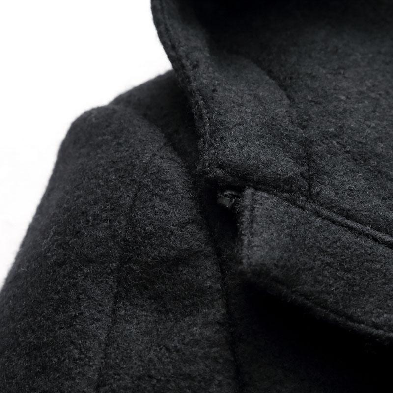 EICHOS Mens Hooded Wollmantel Mode Zipper Pea Coat Jacken Slim Männer Lange Mäntel Winter Warme Hoodies Jacke Männer NZY1812