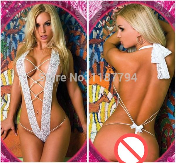 shishangyouhuo Frauen reizvolle erotische Kostüm-Wäsche-Set Unterwäsche Transparent Conjoined Kleid Anzug Nachtwäsche Bodysuit Sexy Hot LTX