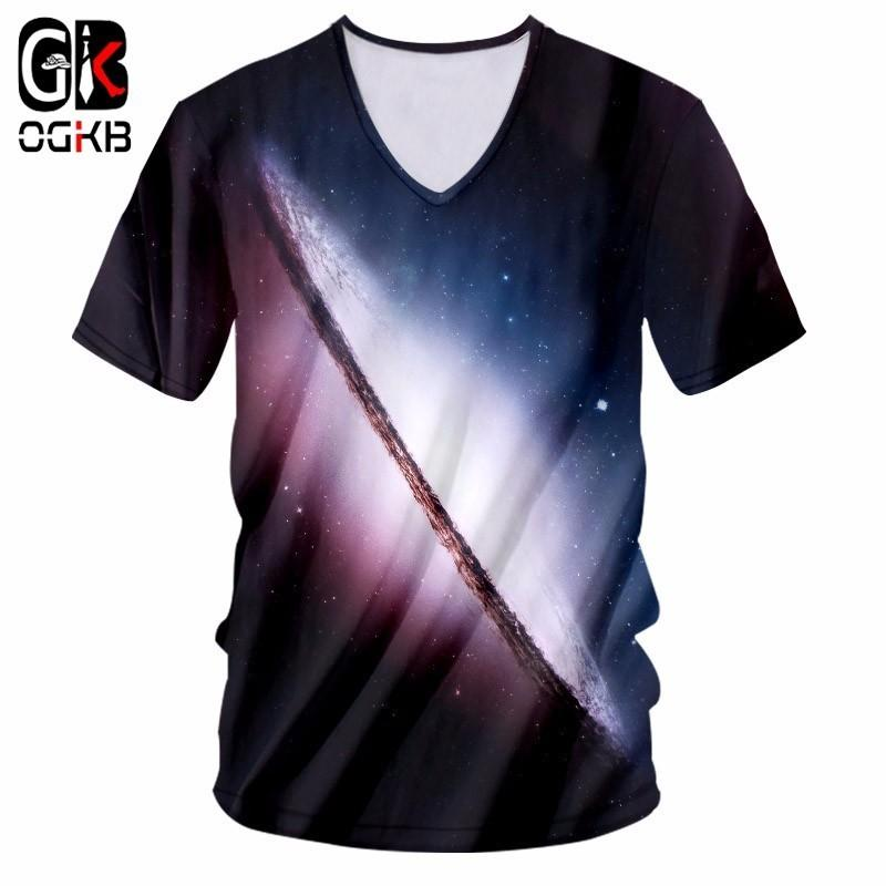 5a5f3a7399a OGKB Deep V Neck Tee Shirt Men  Women Harajuku ShirtsPrint Space Planet 3D T  Shirt Femme Hiphop Streetwear Fitness Sexy Tshirt Funny Printed Shirts Cool  Tee ...