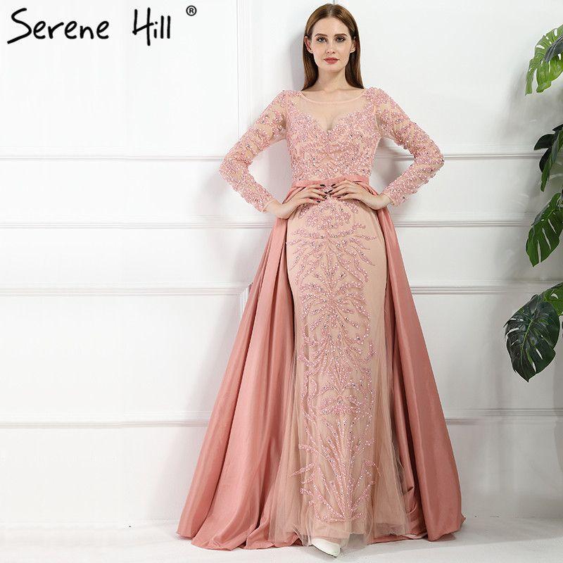 2019 Luxury Dubai Arabic Robe De Soiree Evening Dresses 2018 New Long  Sleeve Prom Dress Party Crystal Beaded Vestido De Festa BLA6172 C18111601  From ... 6b2fee087