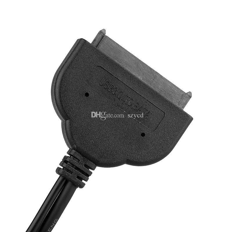 SATA 22 Pin a USB 3.0 + 2.0 Cable de datos de alimentación Adaptador externo para unidad de disco duro de 2,5