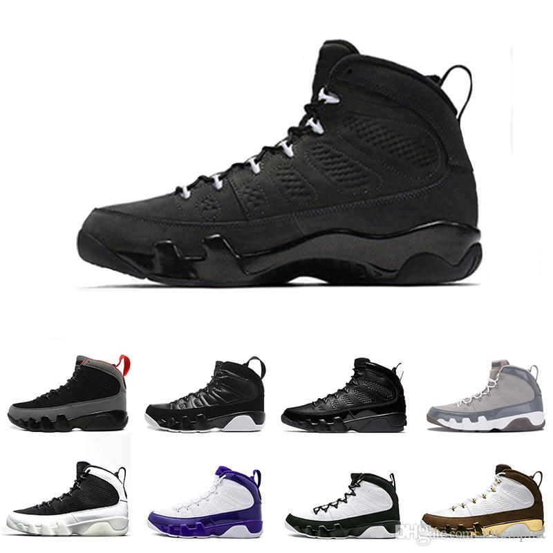 e9c870a8cf96b5 New 9 9s Mens Basketball Shoes Mop Melo LA Bred Anthracite High OG ...