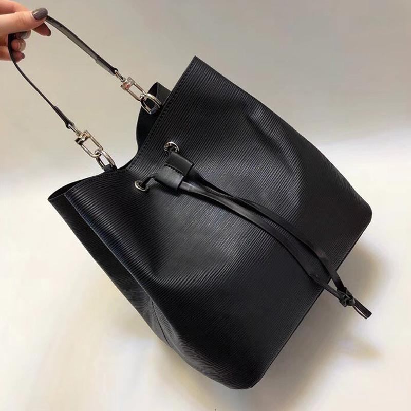 7503cede5206 NEONOE Bucket Bag Shoulder Bags Handbags Women Famous Brands Epi Leather  Tote Bag Fashion Lockme Purse Crossbody Bag High Quality Purses Designer  Handbags ...