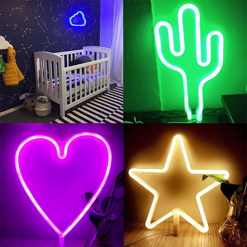 LED Neon Light Night Lamp Neon Sign Bright Wall Light Wedding Light Accessories Beautiful Wedding Party Kids Room