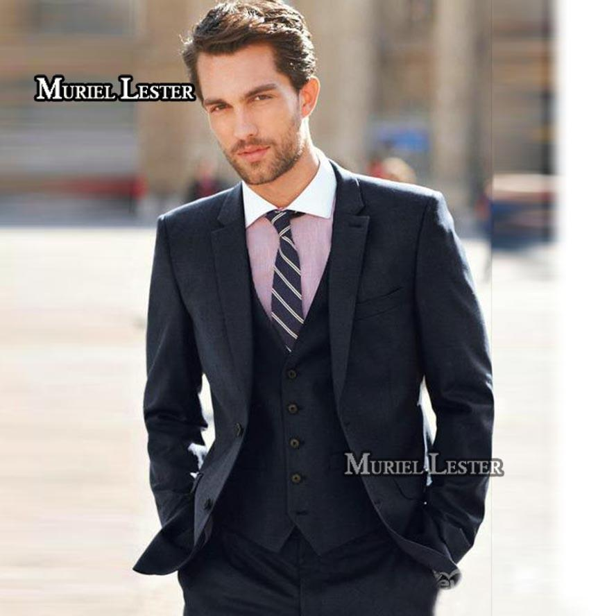 2019 Muriel Lester Costume Mariage Homme Men Suit Slim Fit Anzug Herren  Suit For Men Smoking Para Hombre Navy Blue Wedding Suits Mens From  Lotustoot 82d26994e54