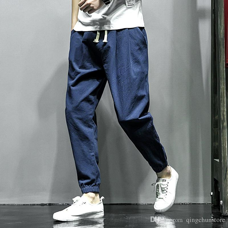 3d7751527e7 New Casual Harem Pants Athletic Hip Hop Dance Sporty Hiphop Mens Sport  Sweat Pants Slacks Loose Long Man Trousers Cotton Sweatpants Casual Harem Pants  Mens ...