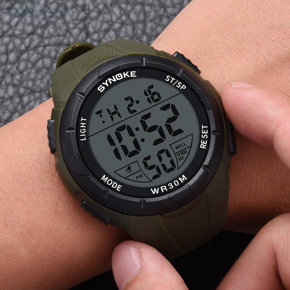 90aff9a5668f Compre Synoke Multi Función Reloj Deportivo 30 M Relojes A Prueba De Agua  Led Digital De Doble Acción Reloj De Pulsera Para Hombre Horloges Mannen  C8100 A ...