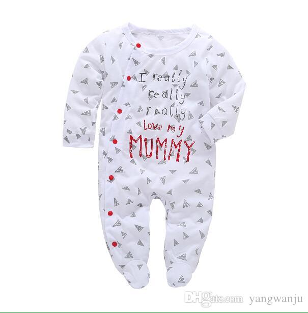 aba53110fad47 2019 2018 Baby Clothes Pajamas Newborn Baby Rompers Cotton Infant Long  Sleeve Jumpsuits Boy Girl Autumn Spring Baby Clothing Set From Yangwanju,  ...