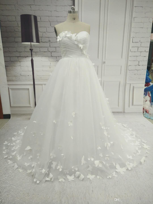 Elegante Uma linha Sem Mangas Longo Querida Vestidos De Noiva Mulheres Tule Vestido De Noiva Zíper Vestidos De Casamento Véu De Noiva Livre e Luvas