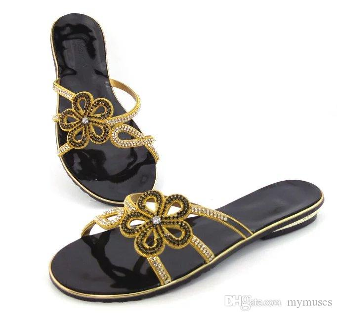 59bcc9072 2018 Black Italian Design Shoes Low Heels Leisure Flip Flops Fashion High  Quality Summer Shoes Hot Selling In Africa Large Size Heels Shoes Online  From ...