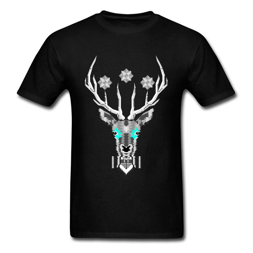 780e659a Geometric Silver Stag 2018 Trendy Deer Print Men T Shirt Cartoon Cool Black  Tops Male Summer Pop Clothing Chic T Shirt Funky Tee Shirts Humor T Shirt  From ...