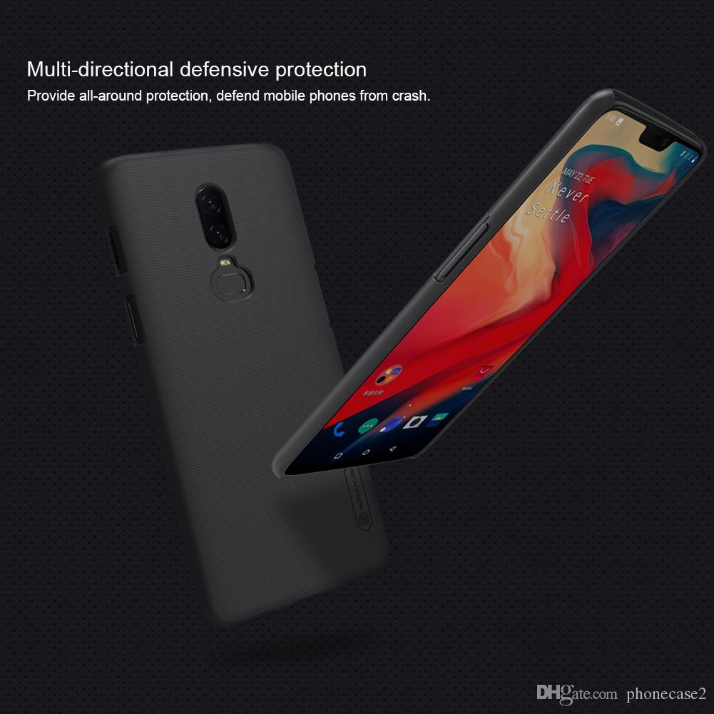 Oneplus 6 case One plus 6 Cover NILLKIN Super Frosted Shield hard back cover case oneplus6 gift screen protector