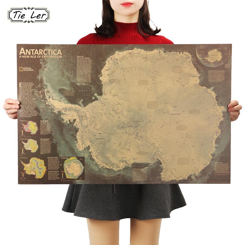 Grosshandel Krawatte Ler Antarktis Satellite Karte Kaffee Bar
