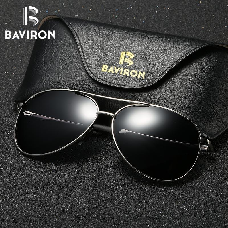 0a3eb1c885 Compre BAVIRON Piloto Gafas De Sol Polarizadas Hombres Gafas De Sol Gafas  De Sol De Espejo De Las Mujeres Uva Uvb Gafas Polarizadas De Conducción  Hombre ...