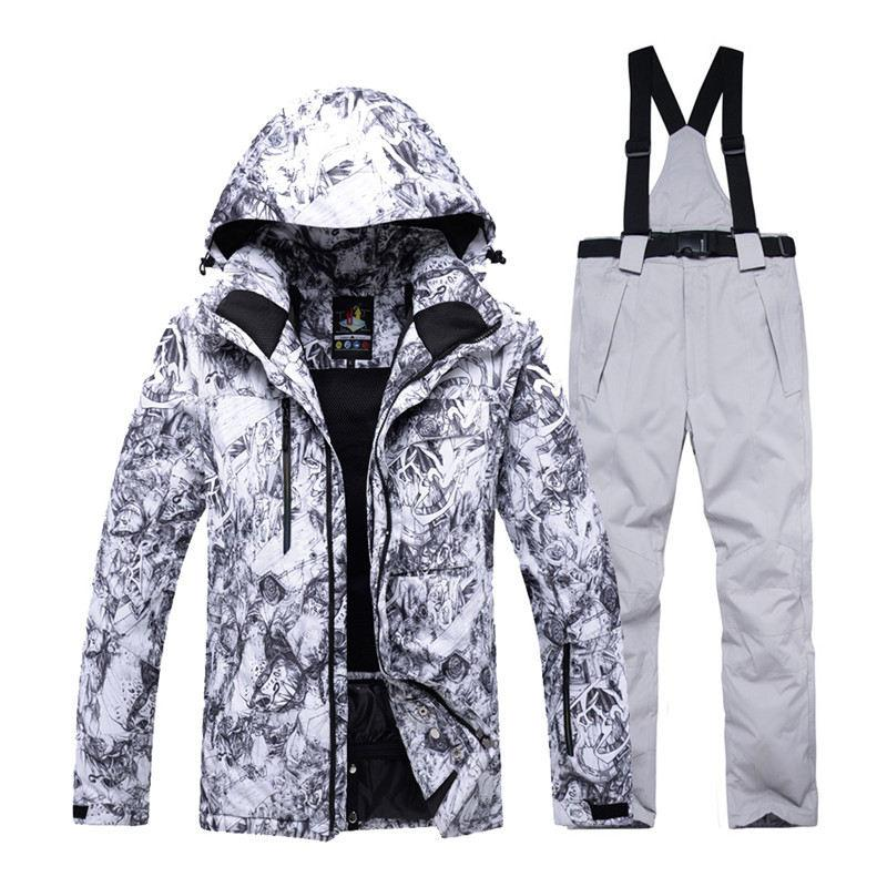 30 Skiing Sets Waterproof Windproof Thicken Outdoor Snow Clothes Ski Sets Jackets Pants For Male Goexplore Snowboard Suit Men