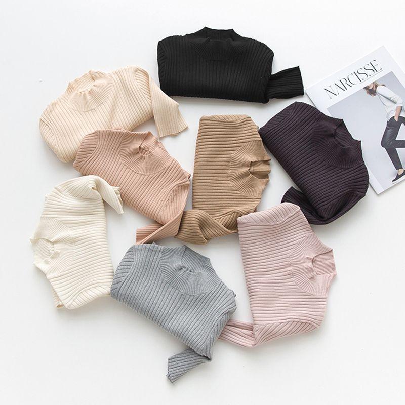2019 2018 Basic Rib Sweater Short Sleeve Mock Neck Knit Pullovers