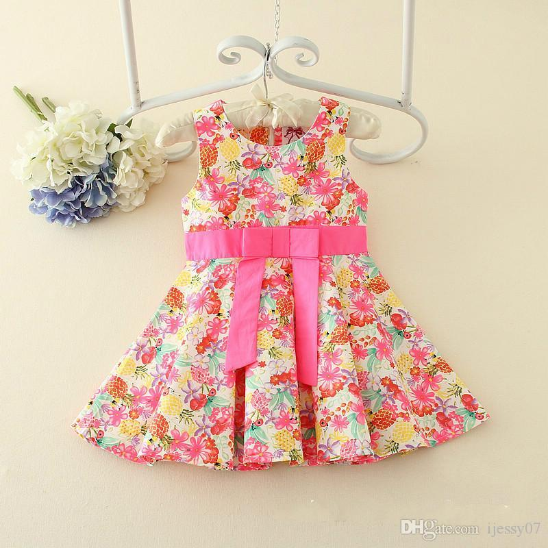 96db298aebf 2019 Baby Girl Dresses 2018 Summer Woman Precious Shivering Princess Skirt  Countryside Wind Can Hats Size 90 130 From Ijessy07