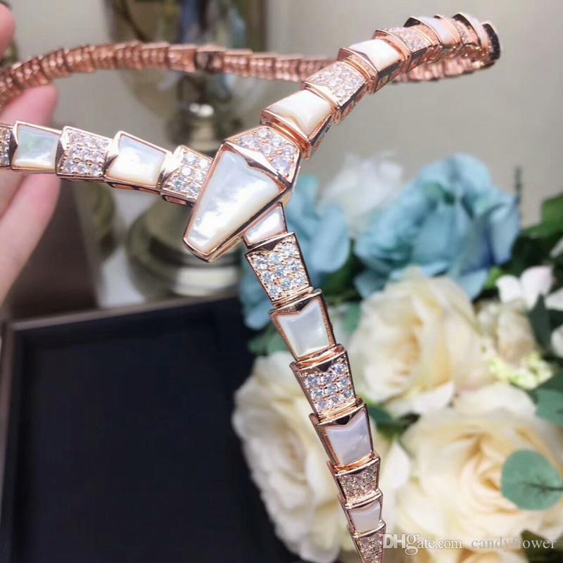 дизайнер моды кубический Циркон перламутр колье животных форма ожерелья 18K розовый / белый / желтый позолоченные партии ювелирных изделий для женщин
