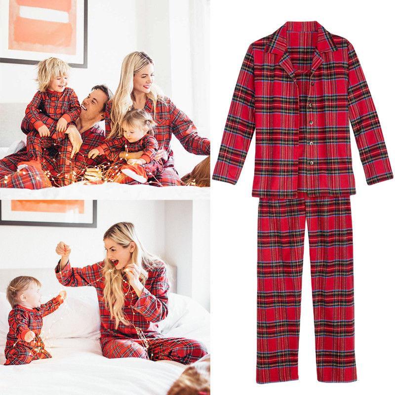 2018 trajes de ano novo para familia de natal pijama família roupa de correspondência papai mamãe crianças bebê pijamas de natal olhar da família clothing