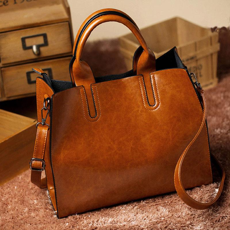 aa52620d95 New Pu Leather Bags Handbags Women Fashion Brands Big Women ...