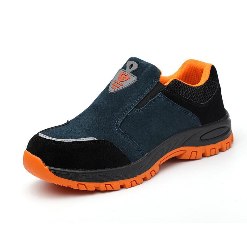 5f1a88fa9551e Compre Tamanho Grande Homens Moda Confortável Biqueira De Aço Sapatos De  Segurança De Trabalho Deslizamento No Local De Construção Do Armazém  Vestidos De ...