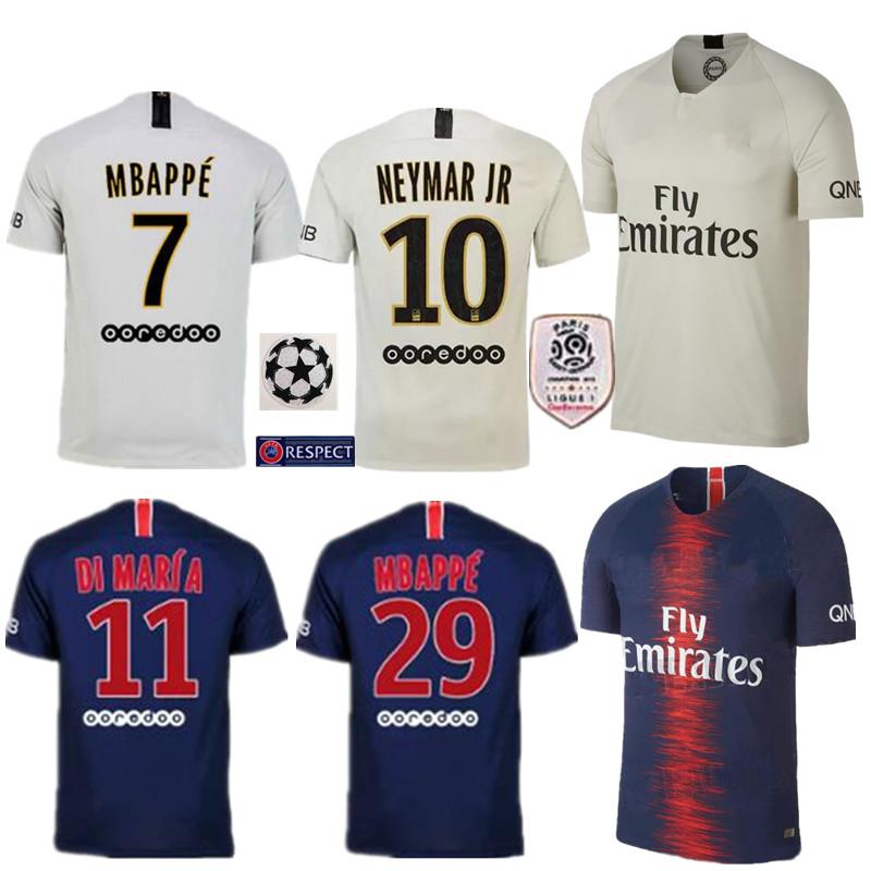 sports shoes 8a977 f964c 2018 2019 new psg jersey 18 19 Paris home blue away white soccer jerseys  CAVANI football jerseys VERRATTI Camiseta MBAPPE maillot de foot