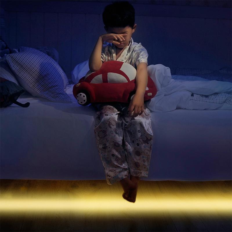 AGM LED Strip Light Motion Sensor Activated LED Night Light Waterproof Flexible Strip Bed Lights Novelty Cabinet Closet Lighting
