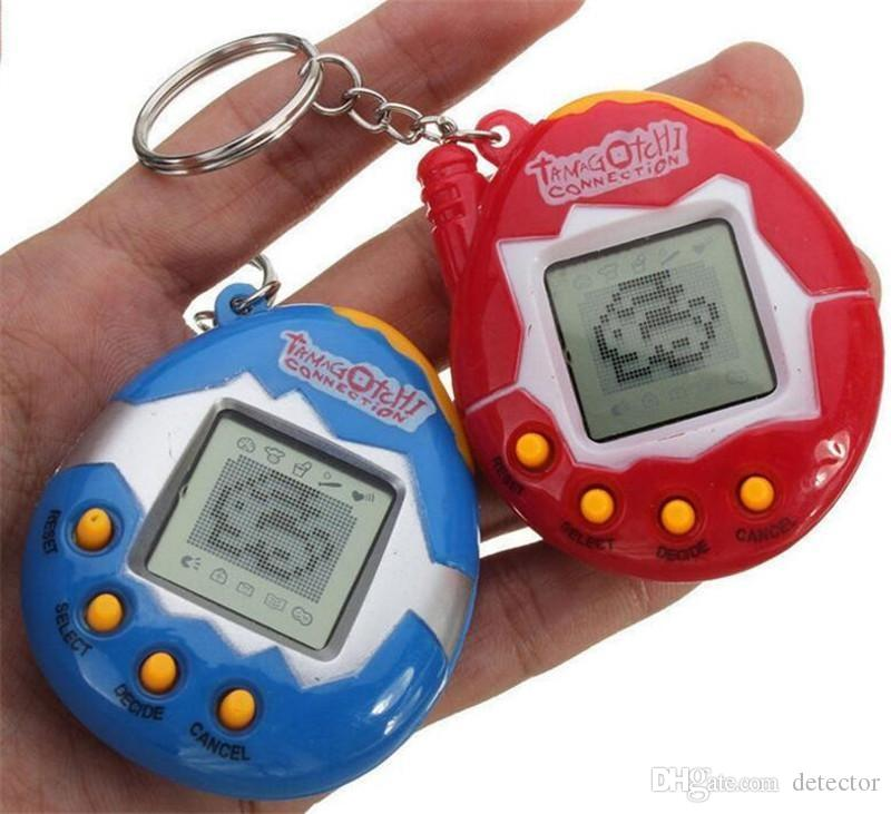 Tamagotchi Tumbler Toy Perfect For Children Regalo de cumpleaños Dinosaur Egg Virtual Pets en un llavero Digital Pet Electronic Game DHL Free