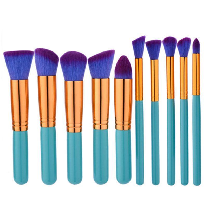 Make-up Pinsel Make-up Pinsel Set Kits Kosmetik Pinsel Set Kit Tool 10 teile / satz Make-up Pinsel Set