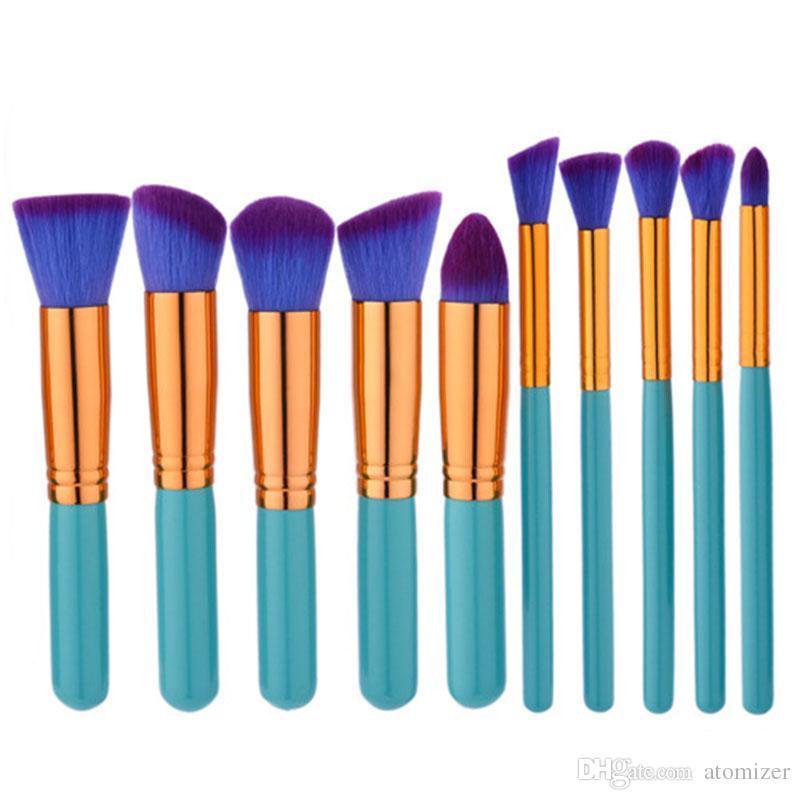 Set di pennelli trucco Set di pennelli trucco Set di pennelli cosmetici Set di pennelli trucco 10 pezzi / set