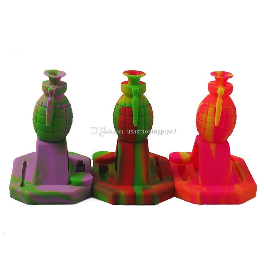 14mm Titanyum İpucu Çoklu renk su borusu silikon bong ile kitleri sigara Yeni tasarım bombası su içilmez borusu