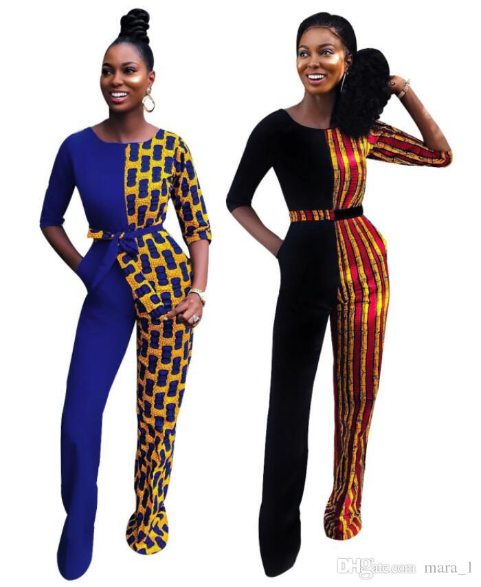 078b8c23474 2019 Women Half Sleeve Jumpsuit Rompers Striped Patchwork Sexy Overalls  Bodysuit Designer Night Club Skinny Casual Jumpsuit With Sashes From  Mara 1