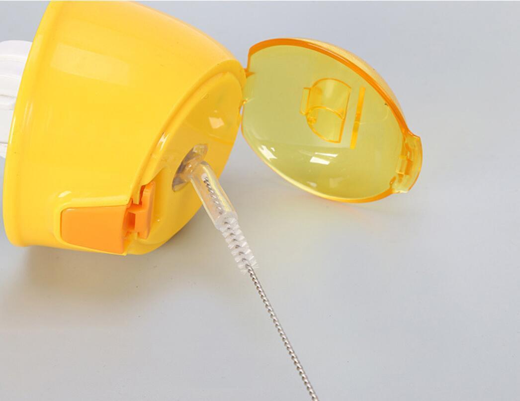 DHL 17.5 cm Escova De Limpeza Da Garrafa De Palha de aço Inoxidável Escova de Limpeza Escova De Nylon Limpadores de Tubos Beber