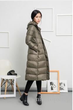 Mulheres longas Jaqueta de Inverno Para Baixo Parka das Mulheres Ultra Leve Peso 90% Pato Para Baixo Casacos Casacos Femininos
