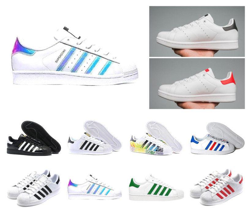 le dernier 7fcd5 cb680 Chaud stan smith chaussures de sport Superstar Femme Chaussures plates  Hommes Femmes Zapatillas Deportivas Mujer Lovers Sapatos Femininos  chaussures ...