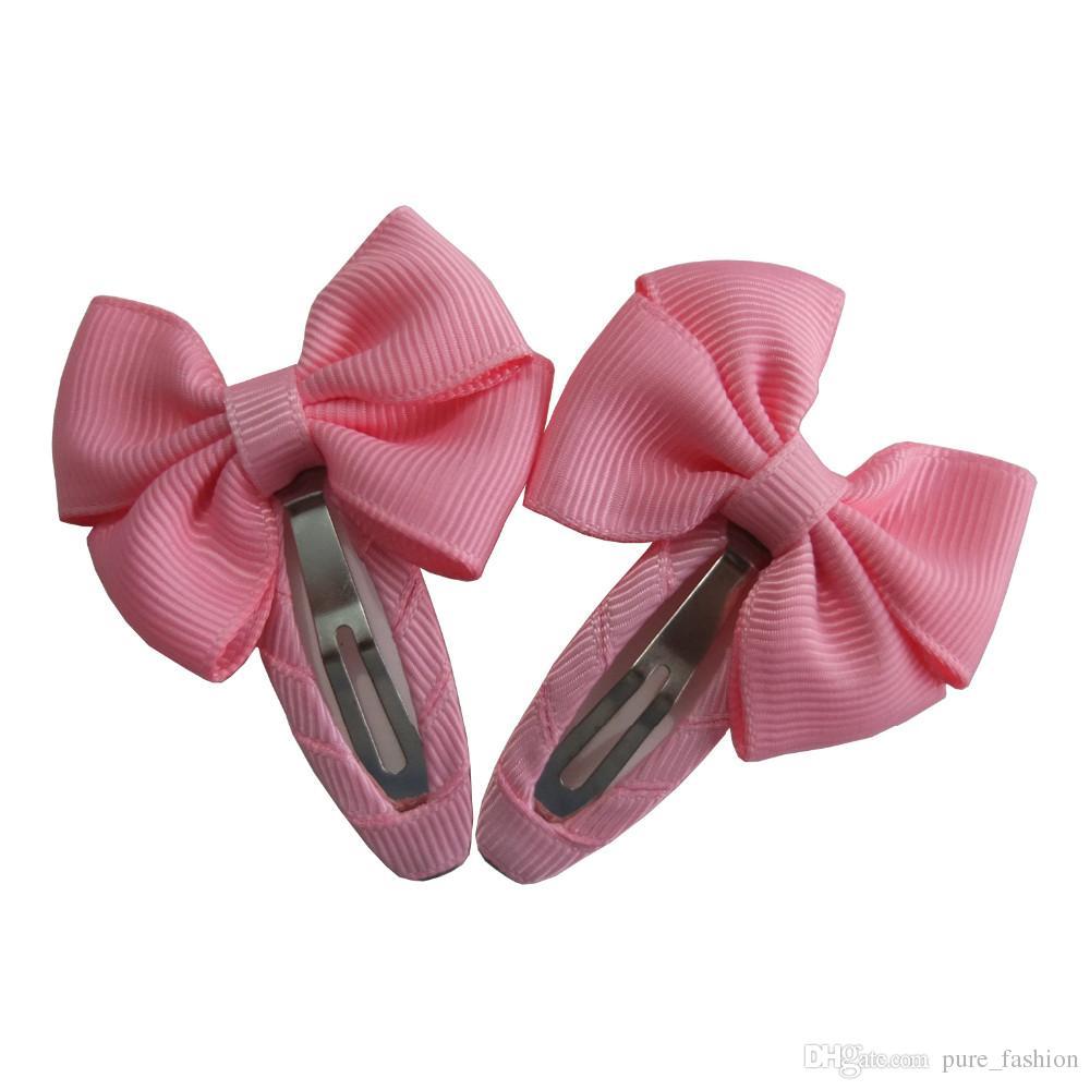 HOT Snap clips Grosgrain Hair bow Kids Girls Hair clips Barrettes Hairbows Hairpins Hairgrips Hair accessories Headwear