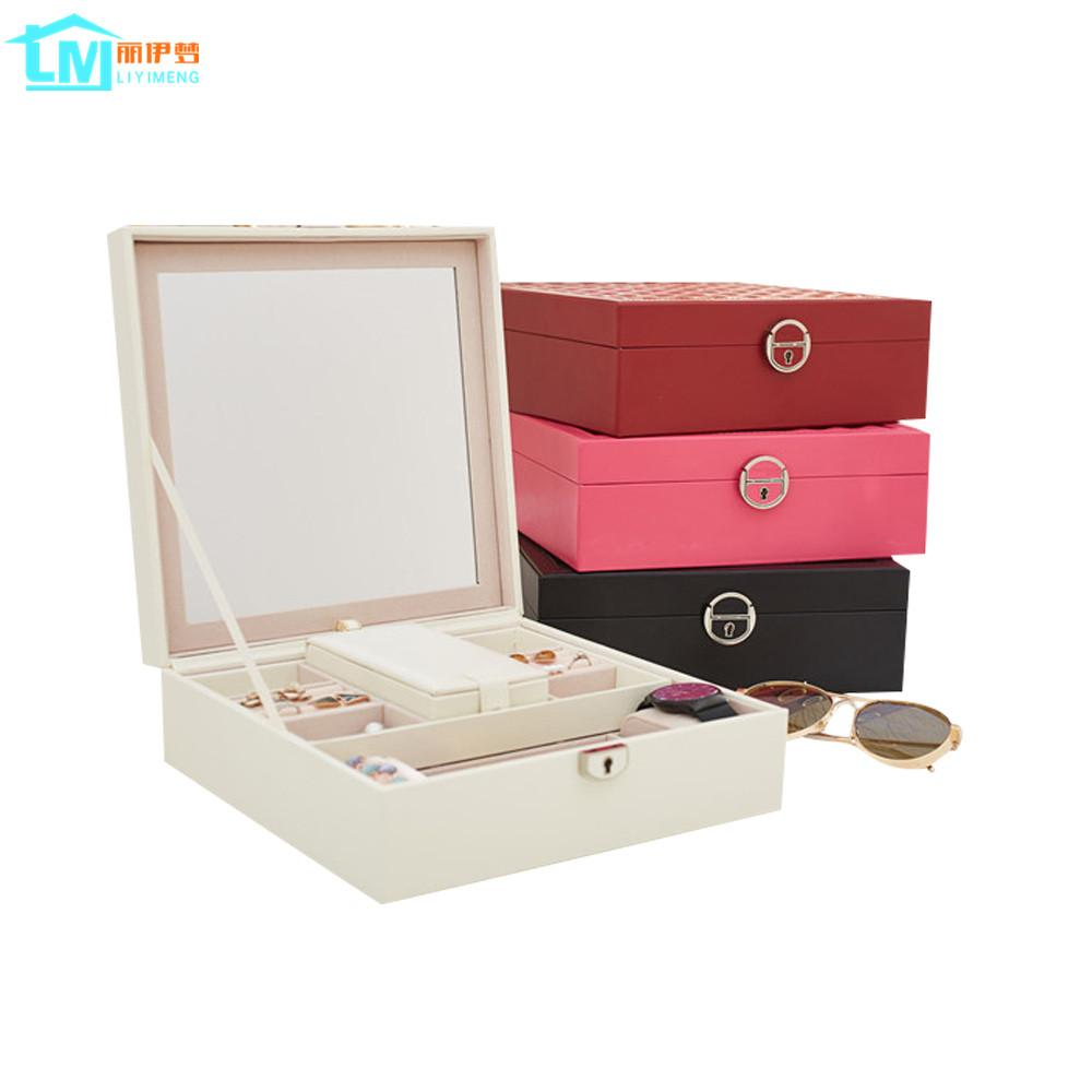 Home Jewelry Organizer Packaging Box Casket For Exquisite Makeup  Accessories Cosmetics Beauty Container Boxes Birthday Gift