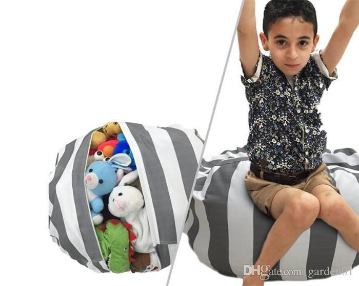 Bolsas de frijoles de almacenamiento para niños 16 '' 18 '' Juguetes de peluche Beanbag Silla Dormitorio Animal de peluche Habitación Esteras Bolsa de almacenamiento de ropa portátil G187