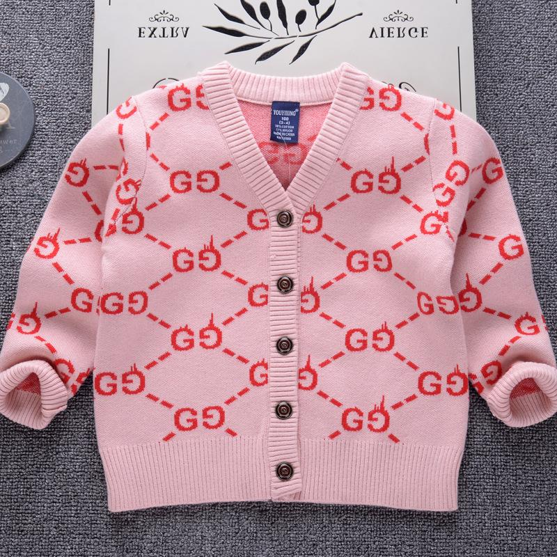 c6f9edbef619 Girls Cardigan Sweater 2018 Casual Brand Design Children Clothes ...