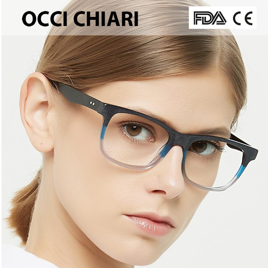 e79f74dae4 2019 OCCI CHIARI Women Glasses Frame Men Eyeglasses Frames Acetate  Spectacles Myopia Gafas Unisex Fashion Wood Grain Matte OC7042 From Buafy