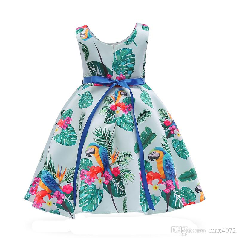 klassisches Mädchenkleidkurzes ärmelloses Grün lässt bowtie Prinzessinkleid für 3-10years Mädchenkindkinderparty-Abendessenleistungskleid