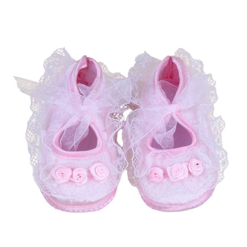 a73a5f6f6d5f 2019 Newborn Crib Soft Sole Shoe Newbron Baby Pre Walker Shoes Rose Flowers  Baby Shoes Soft Roses Floral Infant Hot Sale Summer From Oliveer