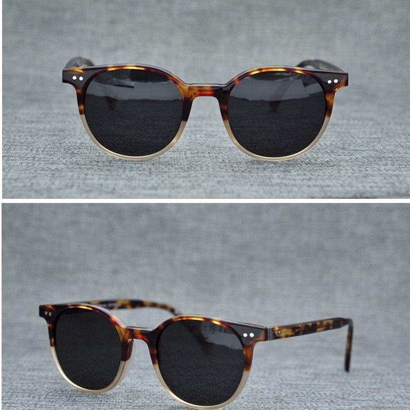 74c28cf6e57ce Compre Marca Do Vintage Rodada Óculos De Sol Oliver Peoples Ploarized Óculos  De Sol Para Homens Mulheres Óculos De Sol Prancha Rodada Quadro Retro Óculos  De ...
