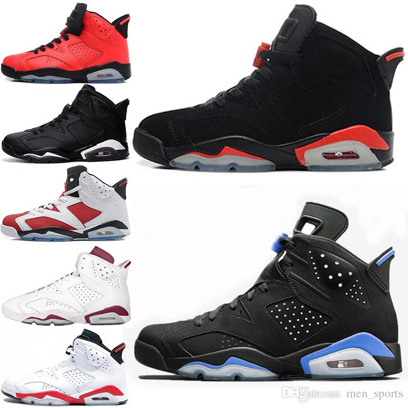 90a66a6f708df4 2018 6 6s Men Women Basketball Shoes UNC Black Cat Hare Carmine White  Infrared Angry Bull Sport Blue Oreo Olympic Maroon Chrome Sneaker Designer  Shoes ...