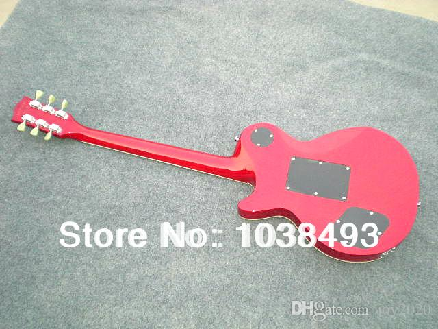 Manufacturer to manufacture the best quality electric guitar tiger stripes LP can be customized EMS with hard case190