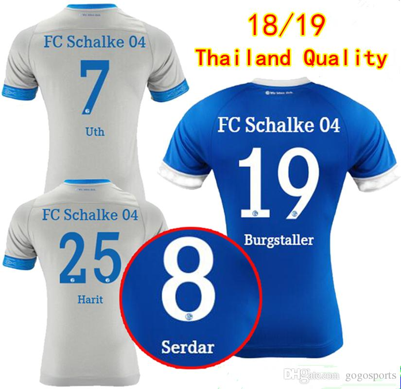 3960e285a25 2019 Thai Quality Schalke 04 Soccer Jerseys 2018 2019 Burgstaller Uth  Serdar Harit Home Away Football Shirts Sane Mascarell Maillot De Foot From  Gogosports, ...