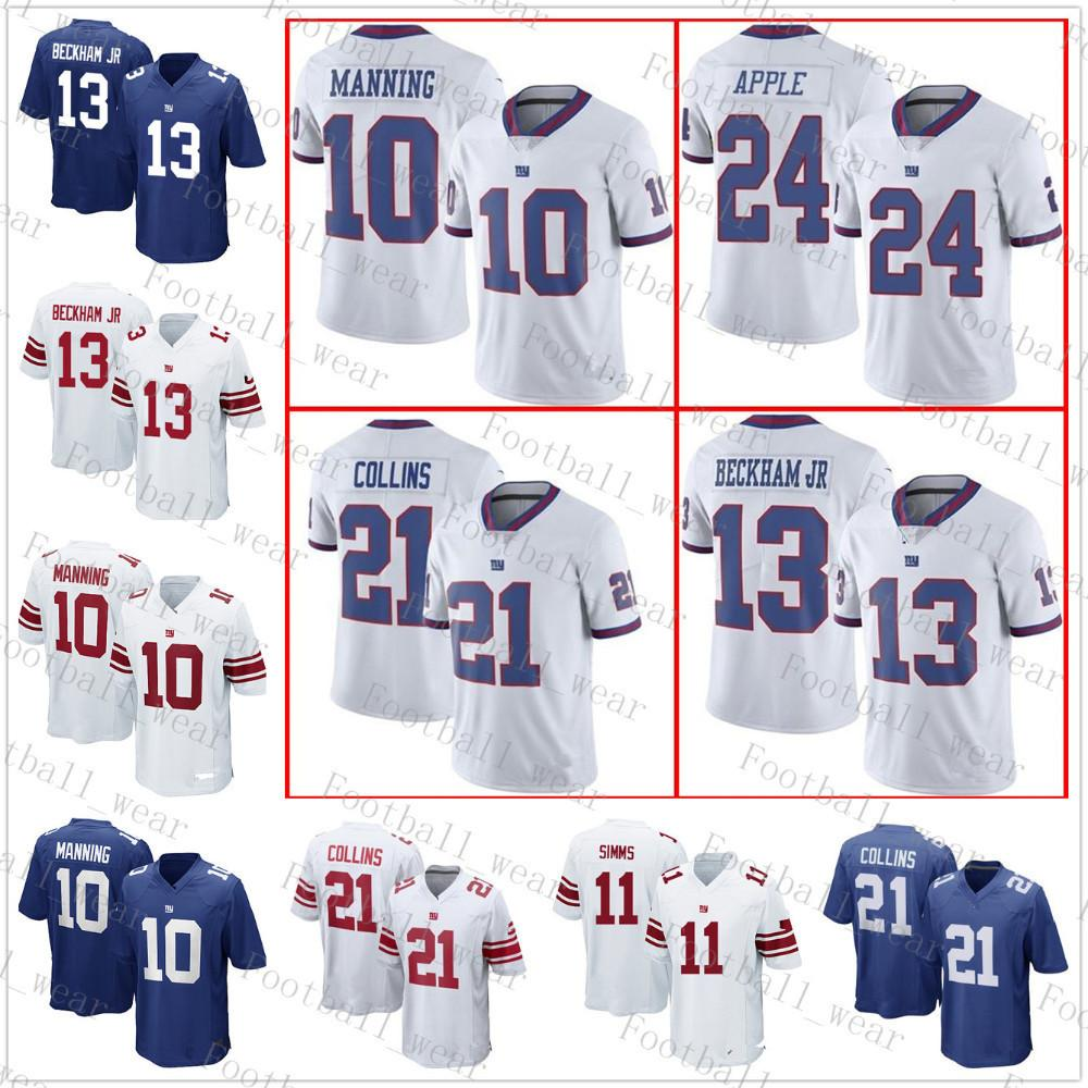 6ac65630c New York Giants Jersey 34 Shane Vereen 24 Eli Apple 13 Odell Beckham Jr 11  Phil Simms 10 Eli Manning 21 Landon Collins 98 Damon Harrison 12 Aaron  Rodgers 12 ...