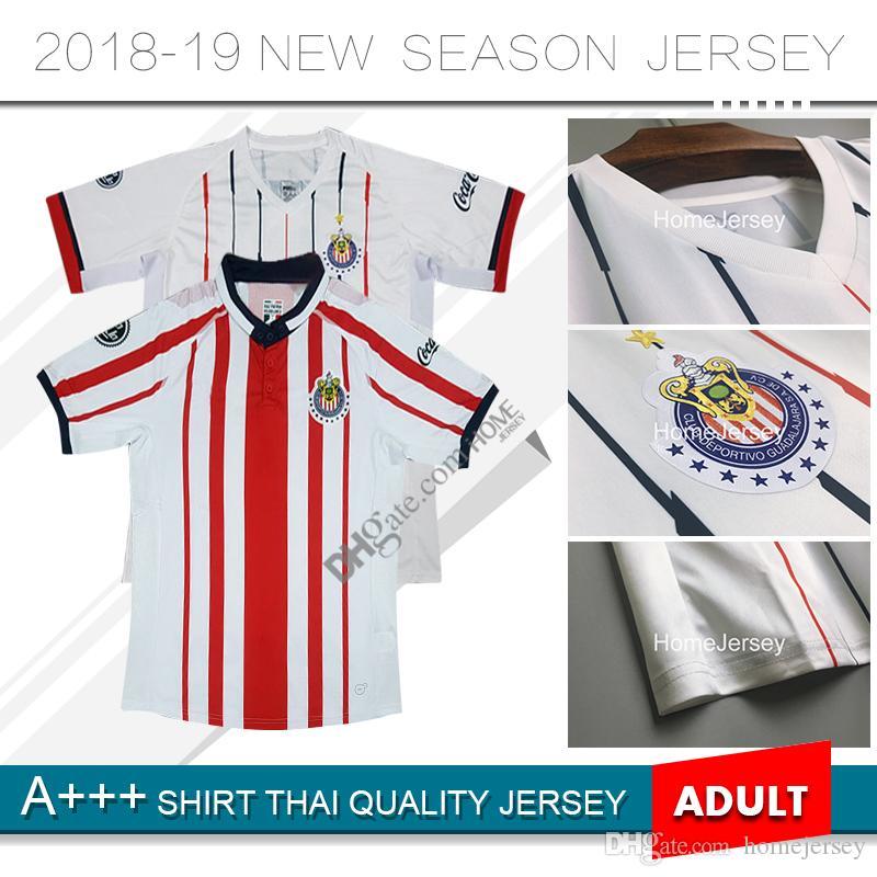 67a949348 2019 18 19 Chivas De Guadalajara Soccer Jerseys 2018 A.PULIDO 10 LOPEZ  A.ZALDIVAR 23 VAZQUEZ Custom Home Away Football Shirt Size: S XXL From  Homejersey, ...