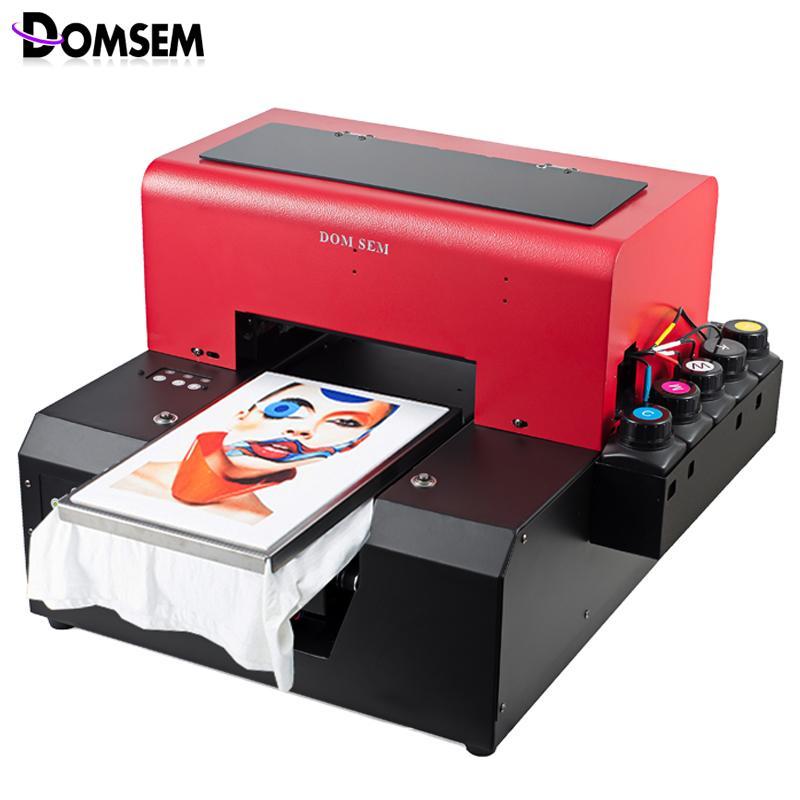 Compre DOMSEM A4 Tamaño Automático De La Ropa De Tela Camiseta UV Impresora  Con Bandeja De La Camiseta   Tinta   Software A  3461.7 Del Joyousa  3487fba3c4b61