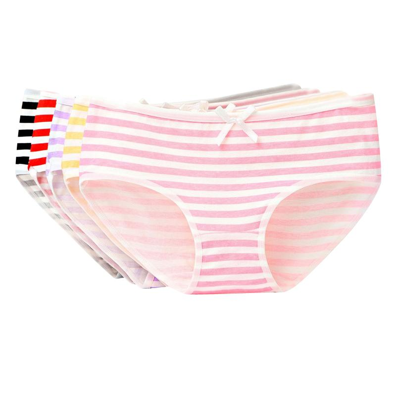 2b662b0c76 2019   Striped Panties Bow Cute Girls Briefs Bragas Sexy Underwear Women  Cotton Panty Lady Brief Sexy Femme From Haolincoat